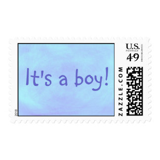 It's a boy! blended blue postage stamps