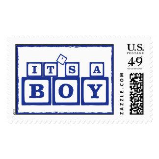 It's A Boy Blocks Postage