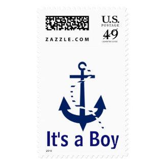 It's a Boy Blue Anchor Postage