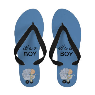 It's a Boy Blue and Black Sandals