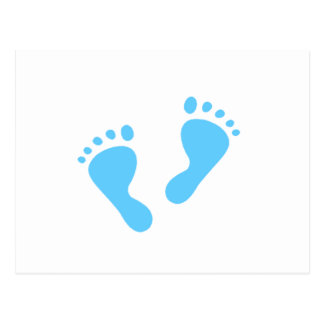 It's a Boy - Blue Baby Feet Postcard