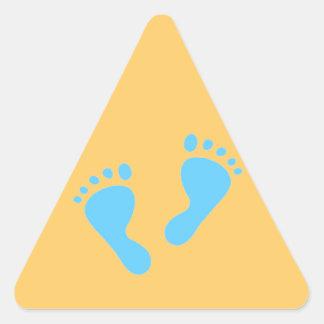 It's a Boy - Blue Baby Feet Triangle Sticker
