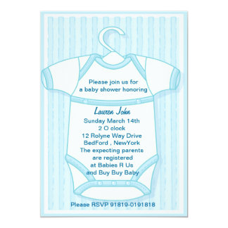 its a boy blue baby gro baby shower invitation