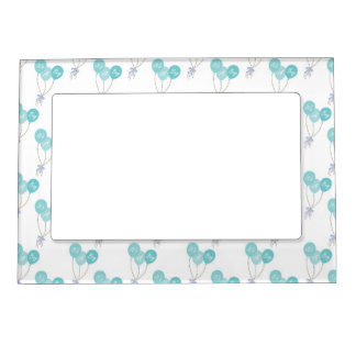 It's a Boy Blue Balloon Party Pattern Magnetic Picture Frame