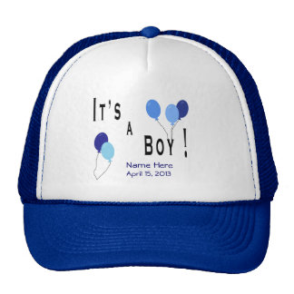 It's a Boy - Blue Balloons Trucker Hat