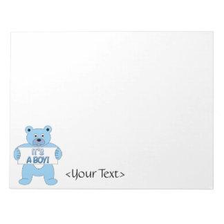It's A Boy Blue Bear Notepad