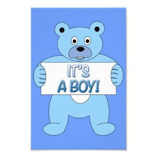 It's A Boy Blue Bear Photograph