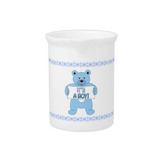 It's A Boy Blue Bear Drink Pitchers