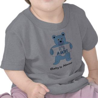 It's A Boy Blue Bear T Shirts