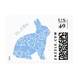 It's A Boy Blue Bunny Stamps