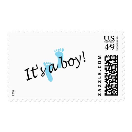 It's A Boy (Blue Feet) Postage