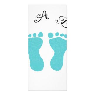 It's A Boy Blue Footprints Rack Card