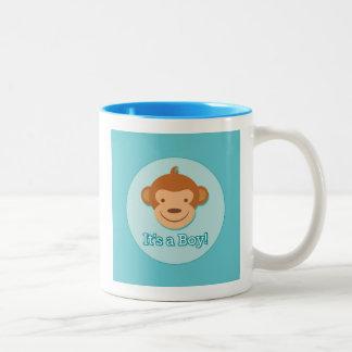 It's a Boy! - Blue Monkey Coffee Mug