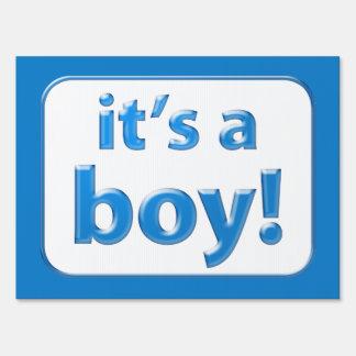 Its A Boy! Blue New Baby Yard Sign