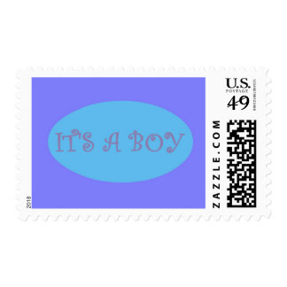 It's A Boy Blue Oval Postage