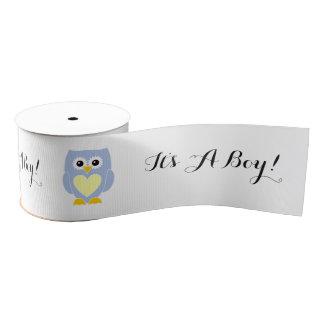 It's A Boy! Blue Owl New Baby Ribbon Grosgrain Ribbon