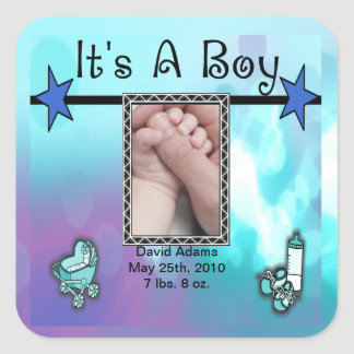 It's A Boy Blue Stars Set Stickers