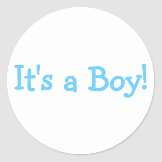 Its A Boy (Blue) Round Stickers