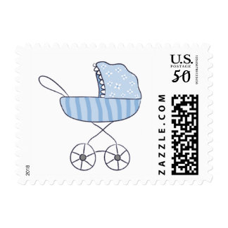 It's A Boy Blue Stroller Postage | Small