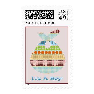 It's A Boy Boho Dots Bundle Baby Shower Postage