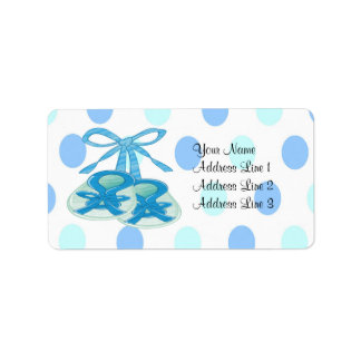 It's a Boy - Booties Baby Shower Address Labels