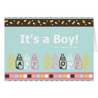 It's a Boy born in Vegas Baby Shower Card