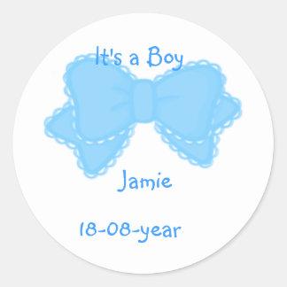 It's a boy! -bow-sticker - -