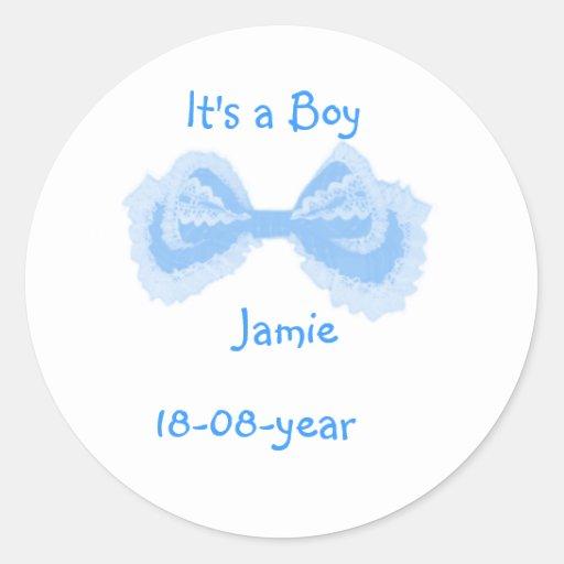 It's a boy! -bow-sticker -