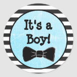 It's a boy, Bow Tie Themed Baby Shower Sticker