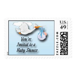 It's a Boy Boy Stork Baby Shower Postage
