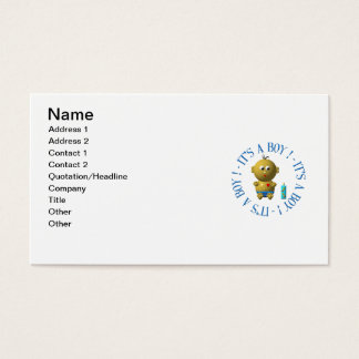 It's a boy! business card