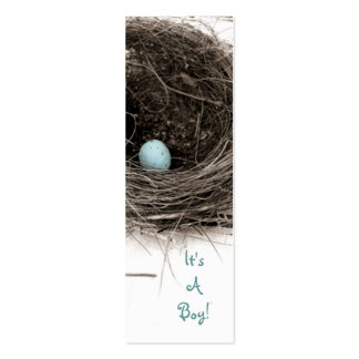 It's A Boy! Double-Sided Mini Business Cards (Pack Of 20)