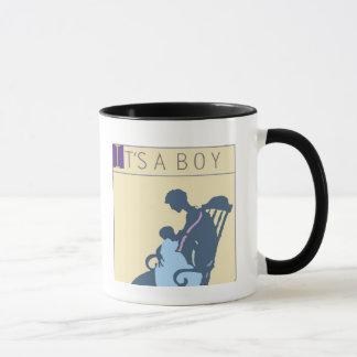 <It's a Boy> by Steve Collier Mug