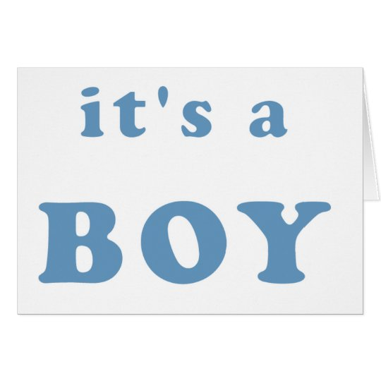 It's a Boy Card