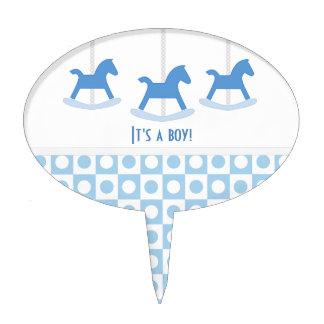 It's A Boy:: Carousel Cake Pick
