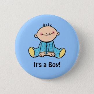It's a Boy cartoon Button