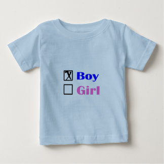It's A Boy (Check Box) Baby T-Shirt