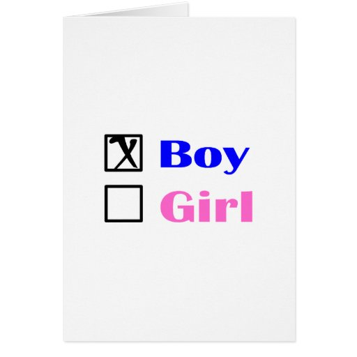 It's A Boy (Check Box) Greeting Cards