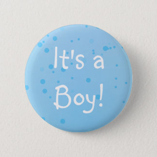 It's a Boy! Chic Blue Inkspots Button