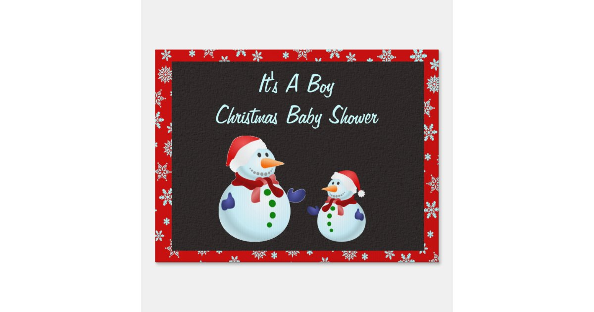 it 39 s a boy christmas baby shower yard signs zazzle