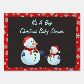 It's A Boy Christmas Baby Shower  Yard Signs