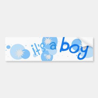 """It's A Boy"" Circle Burst Bumper Sticker Car Bumper Sticker"