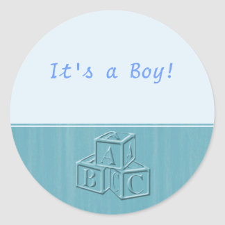 It's a Boy! Classic Round Sticker