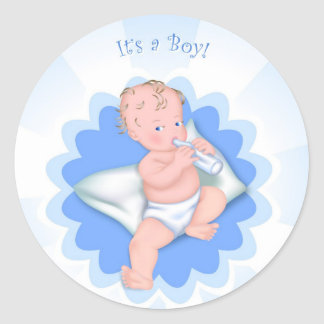 It's a Boy! Classic Round Sticker