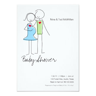 It's a Boy, Coed Baby Shower Invitations, 5x7 Card