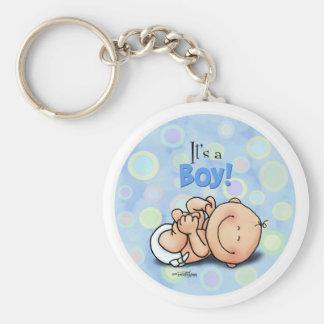 It's a Boy - Congratulations button Keychain