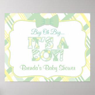 It's A Boy Custom Baby Shower Poster