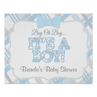 It's A Boy Custom Baby Shower Poster