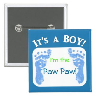It's a Boy! Customize your baby button