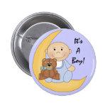 It's A Boy - Cute Baby Cartoon Button